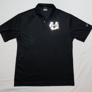 NIKE UTAH STATE AGGIES POLO BLACK CHROME LARGE